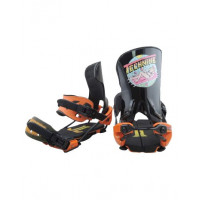 Крепления для сноуборда TECHNINE PRO NINER BINDING SINGLE SCRUB HB BLACK/ORANGE F19_O